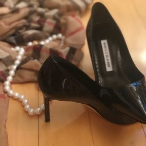 Manolo Blahnik Black New Heels —never worn
